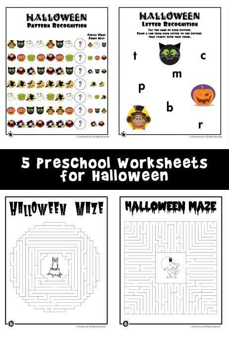 preschool worksheets  halloween woo jr kids activities