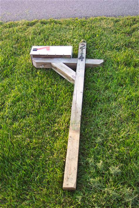 wood mailbox post plans blueprints  diy