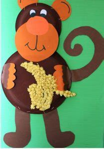 paper plate monkey animal paper plate craft ideas 2637