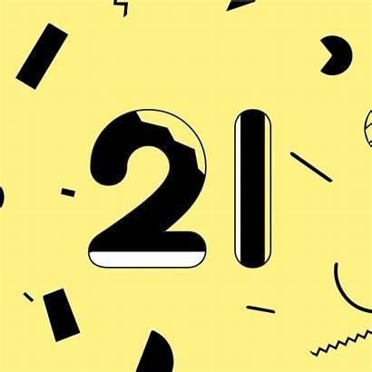 Birthday Animated 21st Twenty Happy Behance Feliz