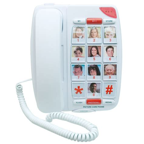 big phone number low vision caller id voice activated dialer