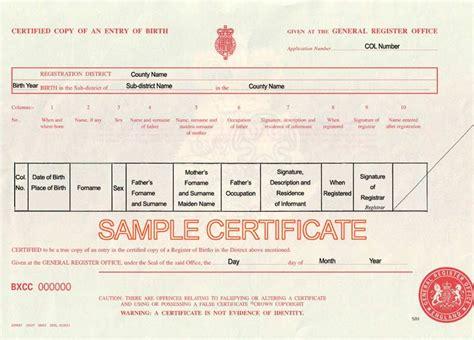 blank birth certificate uk printable birthday certificates
