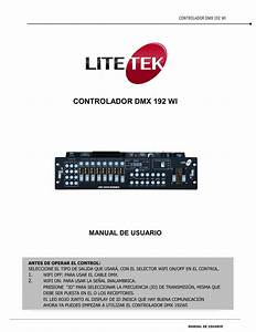 Controlador Dmx 192 Wi Manual De Usuario
