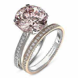Engagement Ring Pink Diamond With Bead Detail