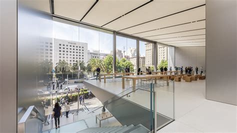 jony ive collaborates with foster partners on a smart apple store in san francisco