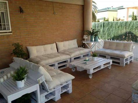 varanda  sofas de pallets mobiliario de paletes sofa