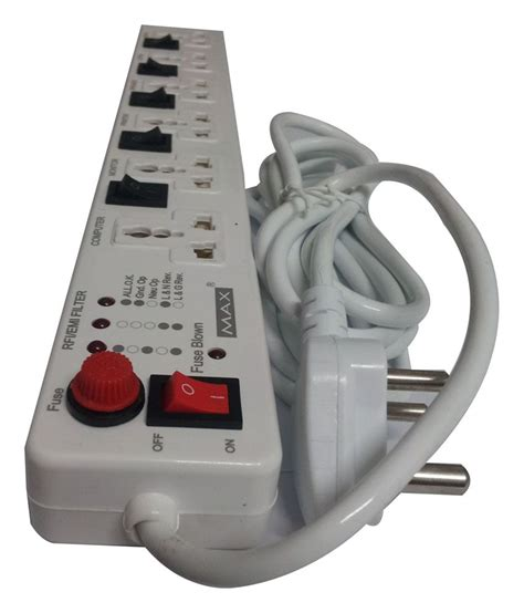 socket switch surge board extension power max protector spike strip fuse meter guard cord india buster installation