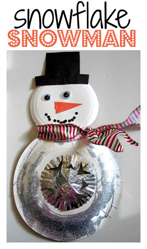 snowflake snowman craft no time for flash cards 624   snowflake snowman craft for kids