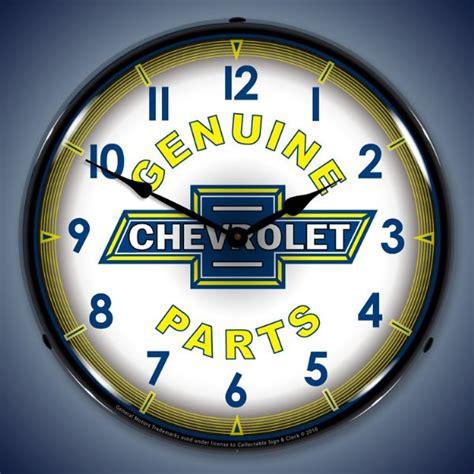 chevrolet genuine parts clock chevrolet lighted clocks