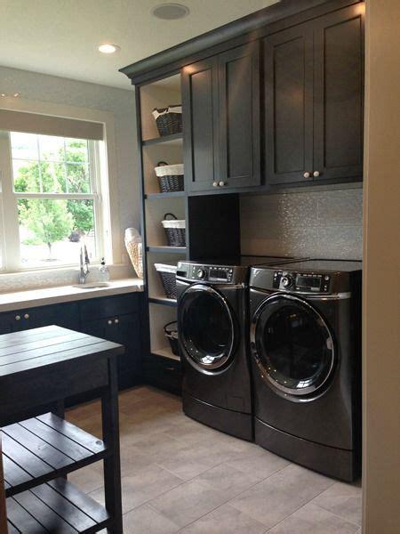 laundry room stonington gray by benjamin and polo blue cabinets by benjamin