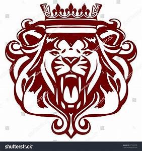 Roaring Lion Wearing Crown Stock Vector 277523735 ...