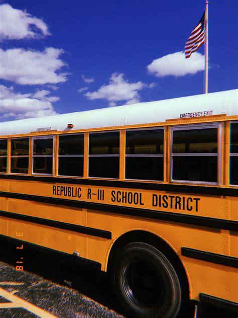 school bus mustard yellow theme aesthetic huji photography tumblr blue skies