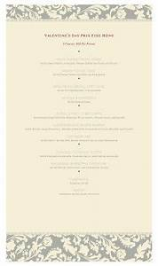 1000 images about valentine39s day menus on pinterest With fancy restaurant menu template
