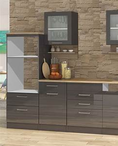 Einbauküche Ohne E Geräte : k chenzeile ohne ger te einbauk che ohne elektroger te 340 cm hochglanz grau ebay ~ Indierocktalk.com Haus und Dekorationen