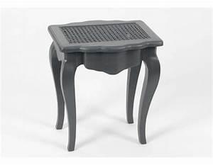 Tabouret De Coiffeuse : tabouret de coiffeuse gris assise cannee ~ Teatrodelosmanantiales.com Idées de Décoration