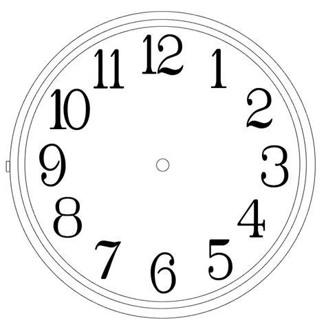 clock templates clipart