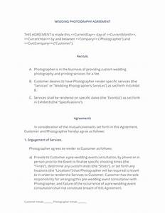 wedding photography agreement With wedding photography contract meal clause