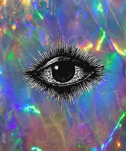 Psychedelic Trippy Dope Eyes Punk Psy Eye