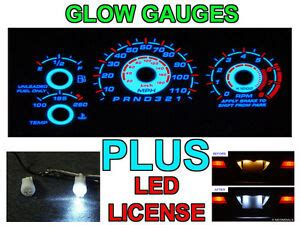 Reverse Glow Gauge Face Led License Bulbs For