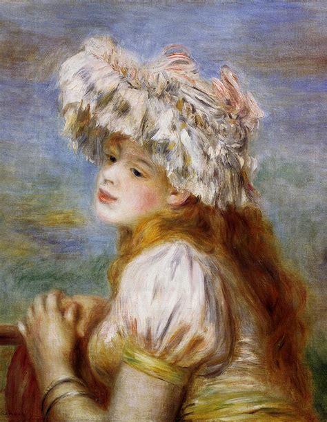 Girl In A Lace Hat 1891 Pierre Auguste Renoir