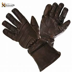 Xelement Driving Retro Mens Brown Leather Gauntlet ...