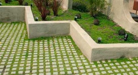drivable grass and plantable wall offering eco friendly