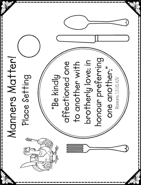 place mat thanksgiving template festival collections