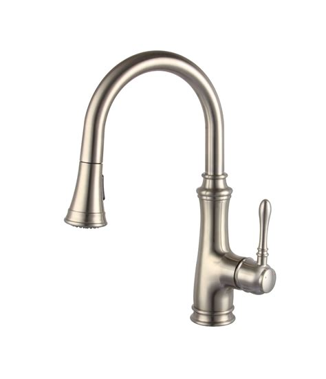 Nickel Kitchen Faucet by A 726 Bn Single Handle Brushed Nickel Kitchen Faucet