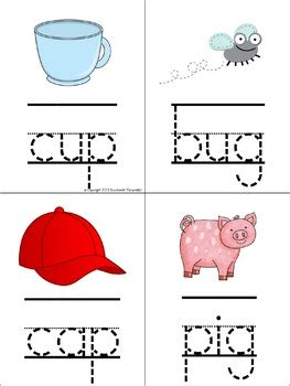 letter formation tracing cards letters cvc words
