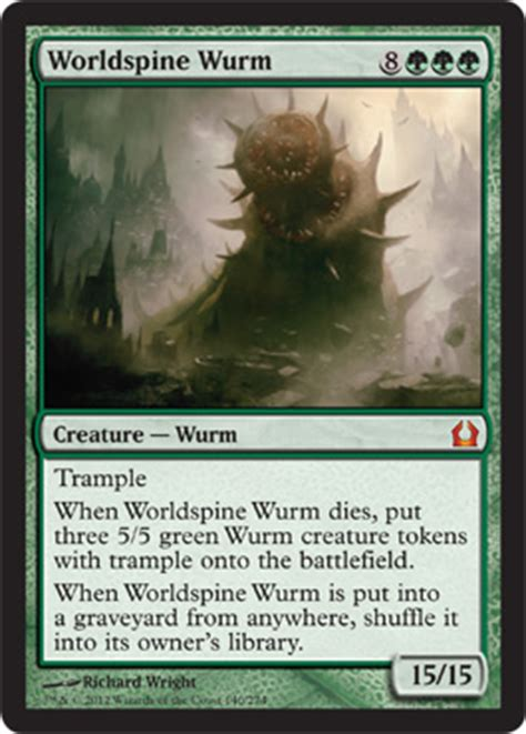 worldspine wurm from return to ravnica spoiler