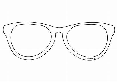 Sunglasses Template Coloring Printable Outline Pages Emoji