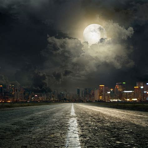 Photography Background Send Rolled 8 X8 City Backdrop Moon