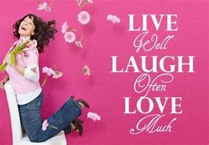 Live Laugh Often Love Much : live well laugh often love much muursticker ~ Markanthonyermac.com Haus und Dekorationen