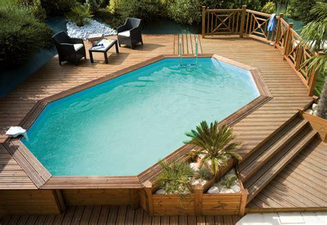 kit piscine bois semi enterree piscine hors sol bois semi enterree