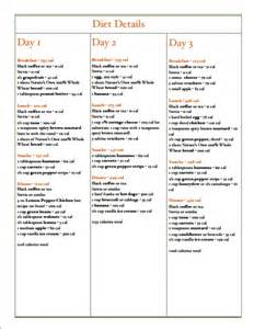 3-Day Military Diet Menu Plan Printable