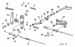 Johnson Throttle Linkage Parts For 1998 25hp Bj25kleca