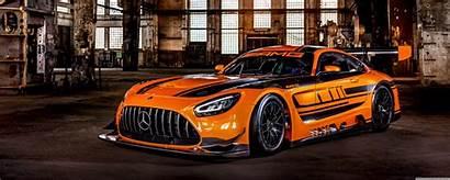 Mercedes Orange Race Gt3 Amg Dual Monitor