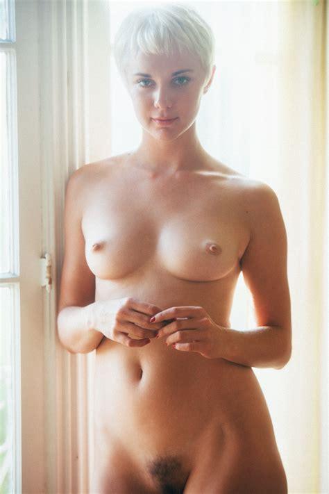 Short Hair Blonde Hairy Pussy