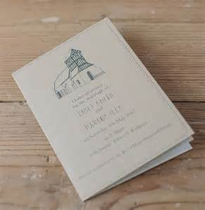 wedding invitation stationery bespoke illustrated order of service booklet by scribble notonthehighstreet