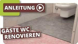 Bad Abdichten Vor Fliesen : wc renovierung mit klick vinyl youtube ~ A.2002-acura-tl-radio.info Haus und Dekorationen