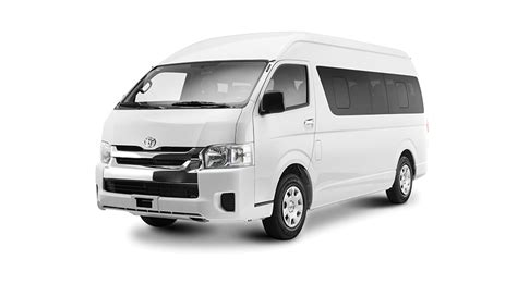 Let nothing hold you back! Explora Toyota Hiace Commuter 13 Pax - Explora Car Rental ...