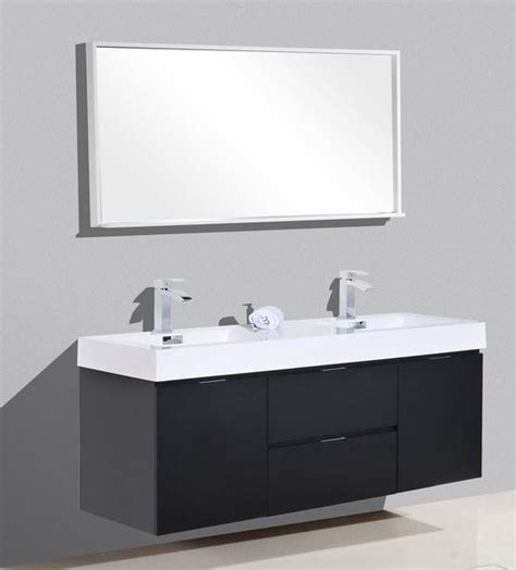 Modern Bathroom Accessories Canada by Bliss 60 Quot Kubebath Black Wall Mount Modern Bathroom
