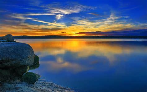 Amazing Blue Sunset 15111 1920x1200 Px Hdwallsourcecom