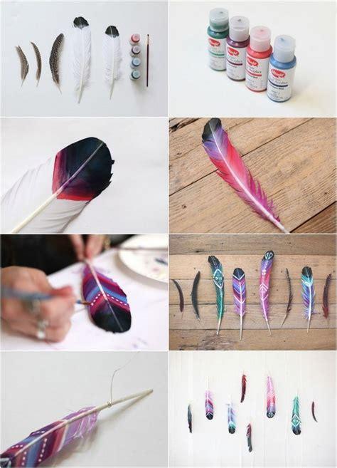 Acryllack Wohnen Sie Bunt by Federn Bunt Bemalen Mit Akrylfarbe Federn