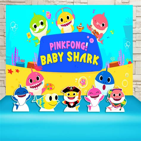 kit festa baby shark  elo impakto visual cdf