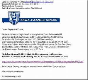Rechnung Zalando : fieser virus per e mail mit mahnungsschreiben zalando ~ Themetempest.com Abrechnung