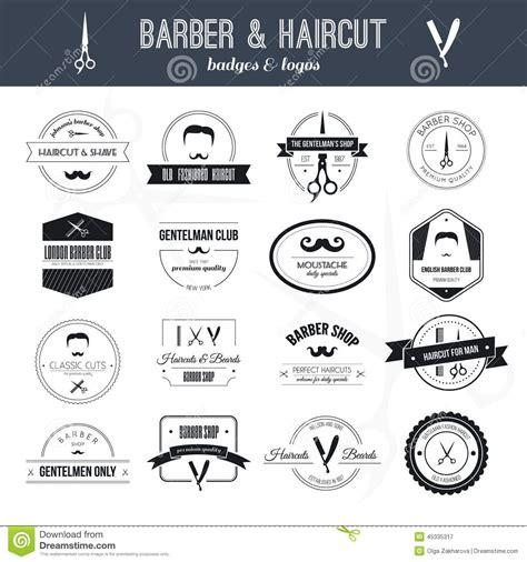 barber logos stock vector image  scissors saloon