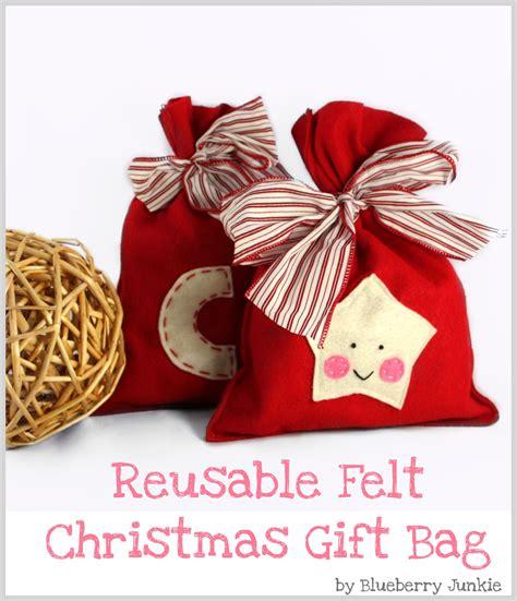 felt christmas gift bag sewing projects burdastylecom