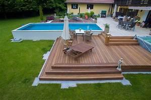 Terrasse Mit Pool : terrasse mit pool bauer und s hne ~ Yasmunasinghe.com Haus und Dekorationen