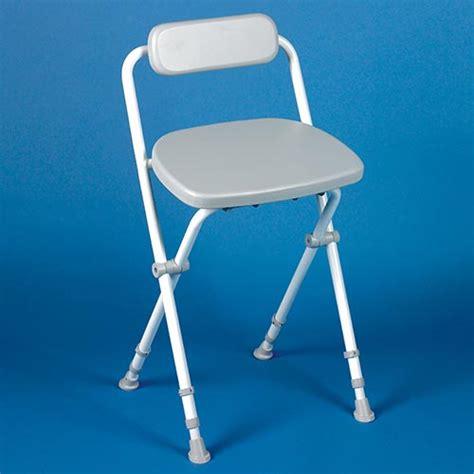 sherwood folding perching stool with padded back